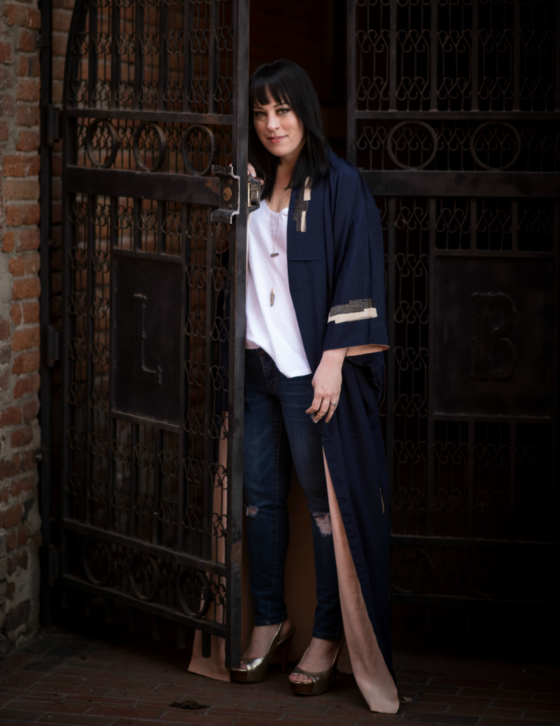 Style: Thrifted vintage silk kimono