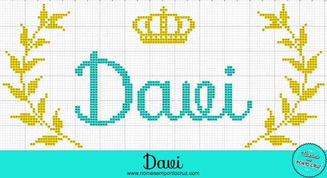 Nome Davi em Ponto Cruz – Gráfico Príncipe - 01