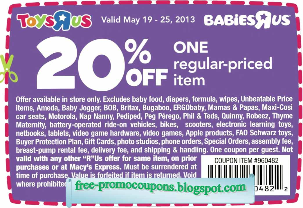 This is a photo of Terrible Baby R Us Printable Coupons