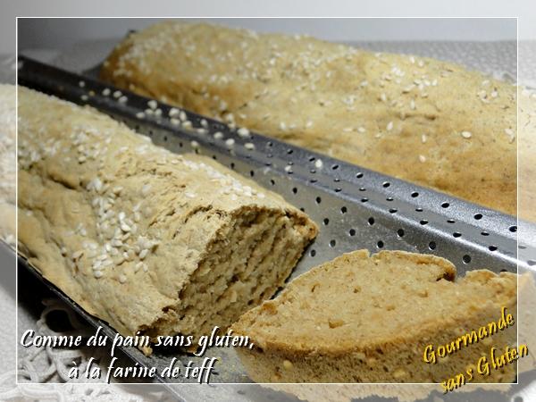 Comme du pain sans gluten, rapide sans levure de boulanger