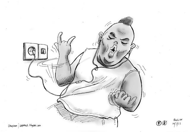badass, rocker cartoon
