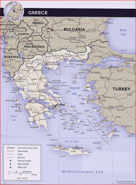 Gambar Peta Politik Yunani