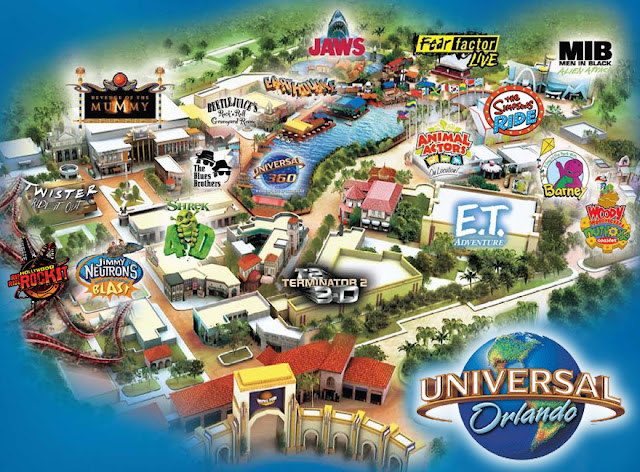 Mapa Parque Universal Studios Orlando Florida