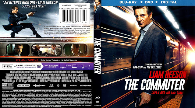 The Commuter (scan) Bluray Cover
