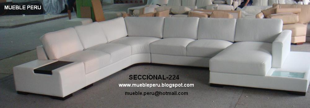 MUEBLE PERU MUEBLES DE SALA SECCIONALES EN CUERO