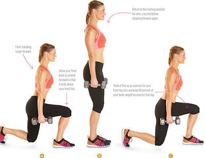 women's health - WALKING LUNGE