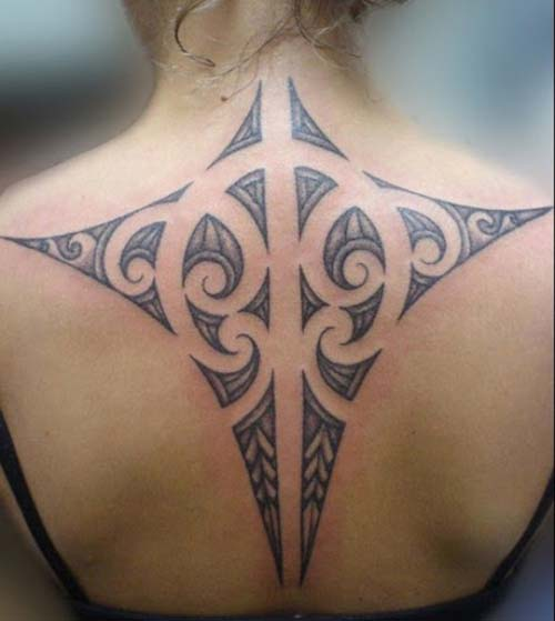 kadın tribal dövmeler sırt woman back tribal tattoos