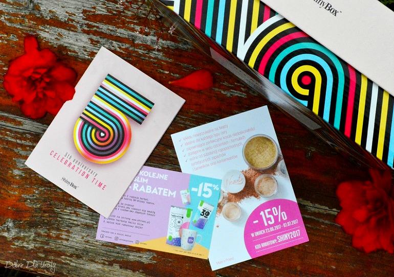 Celebration Time by ShinyBox - co znalazłam w swoim pudełku bony zniżkowe