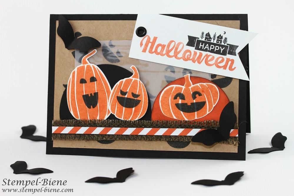 Halloweenkarte, Stampin Up Fall Fest, Stampin Up Halloween, Stampin Up Halloween Street, Match the Sketch, Stampin Up Basteln