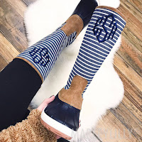 striped duck boots