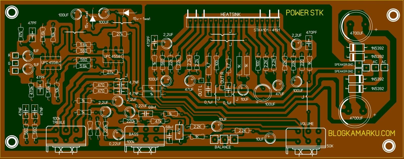 4 Tahap Cara Membuat Jalur Pcb Sendiri Bolong Power Stk Ic 4101 4191