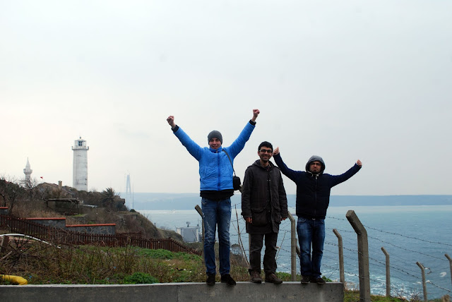 Чёрное море, Босфор, маяк, Турция.