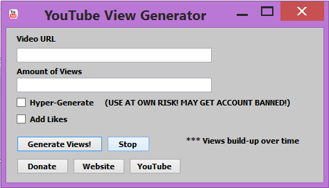 YouTube View Generator 4/30/2014