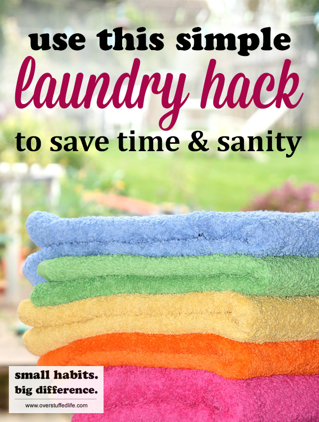 Finally get your laundry completely under control with this super simple laundry hack. Not only will it save you lots of time, it will save your sanity as well!