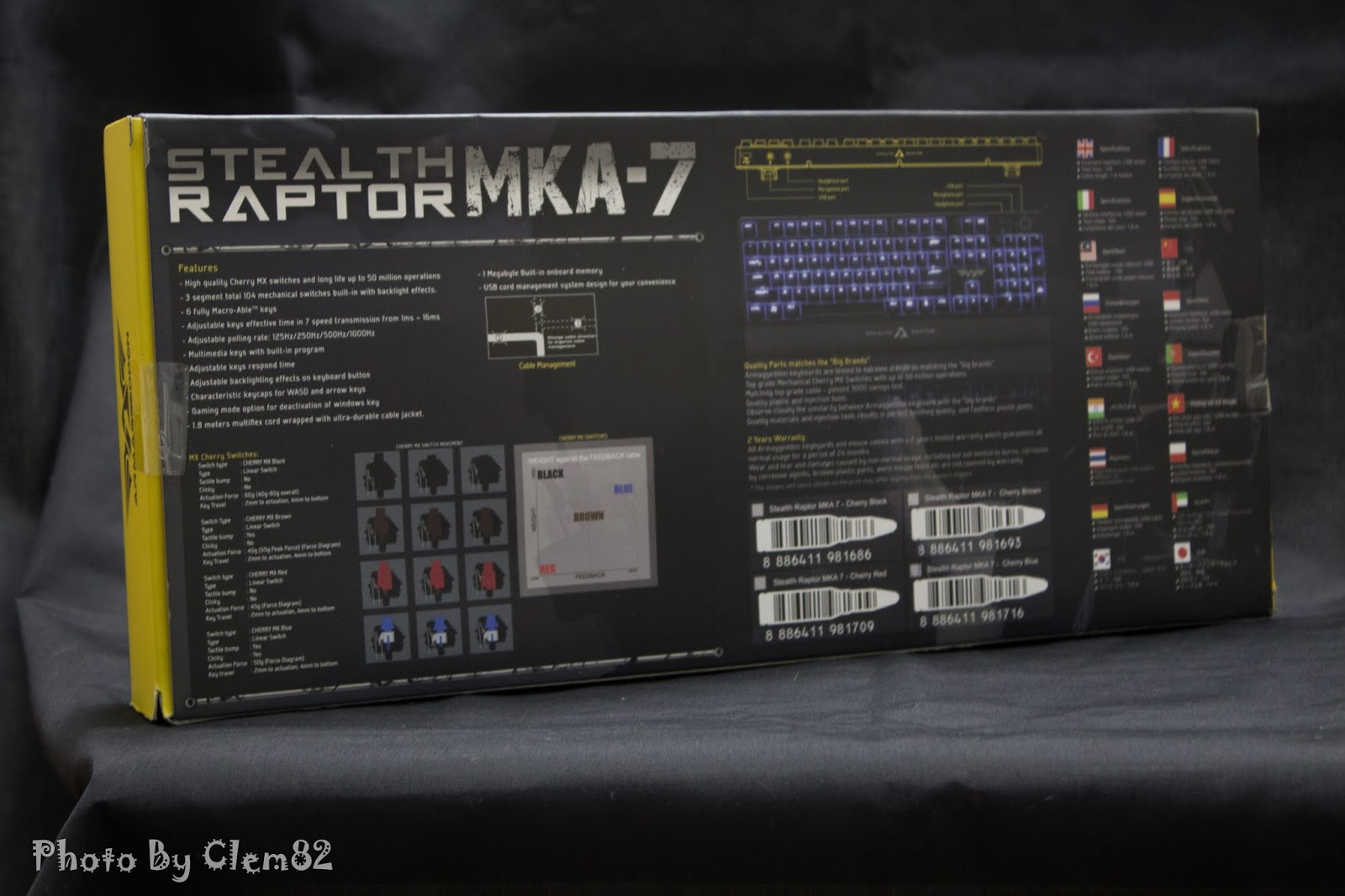 Armaggeddon Stealth Raptor MKA-7 Mechanical Gaming Keyboard 37