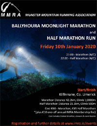 MMRA Moonlight Marathon & Half-Marathon - Fri 10th Jan 2020