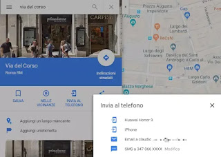 sincronizzare riceche google maps