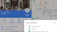 Inviare Indirizzi e luoghi Google Maps da PC a Telefono e ritrovare le ricerche fatte