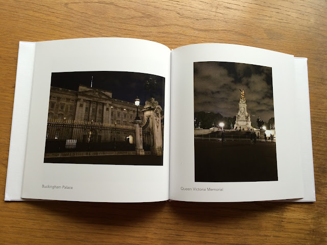 photos from london printed in a photo book from lalalab