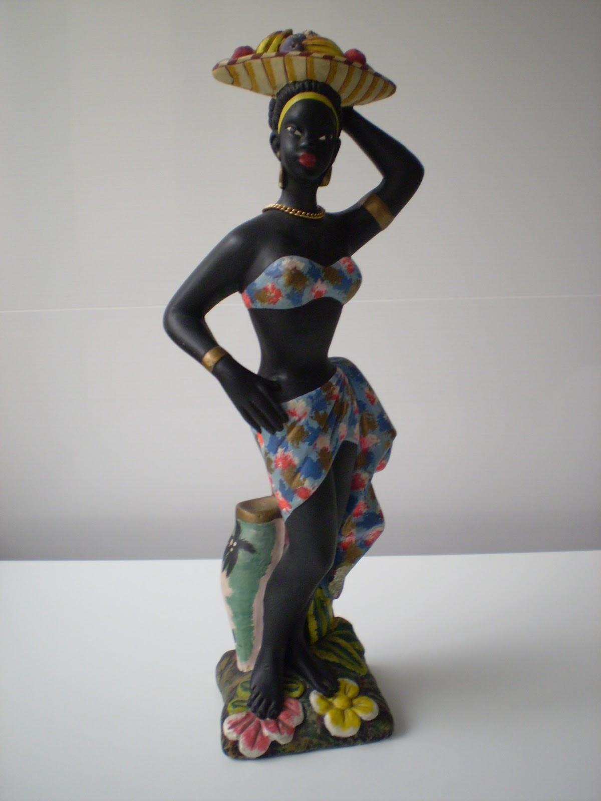 Actric Porno Africanas vintagería esculturas de mujeres negras africanas arte