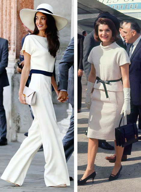 Amal Clooney e Jacqueline Kennedy look