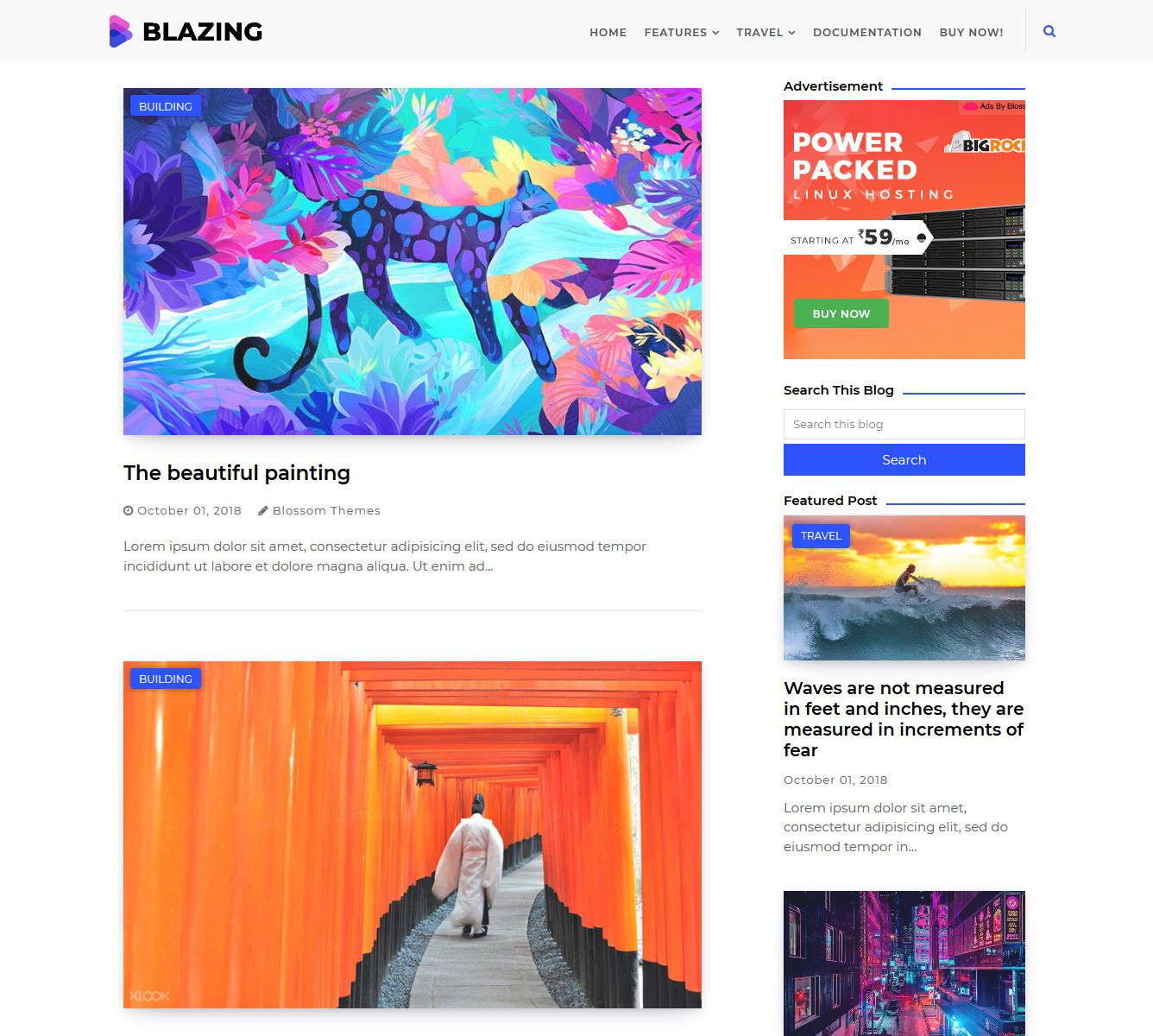 template blogger blazing download gratis