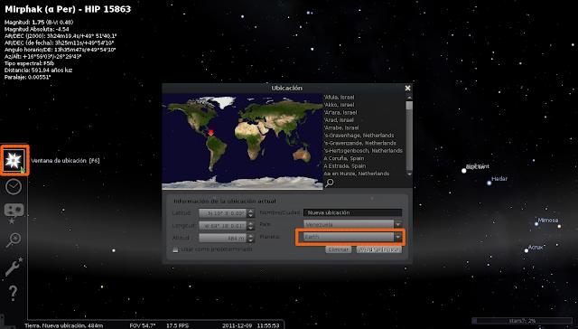 Puntero De Ubicación: Software Libre: Stellarium En Canaima 3.0