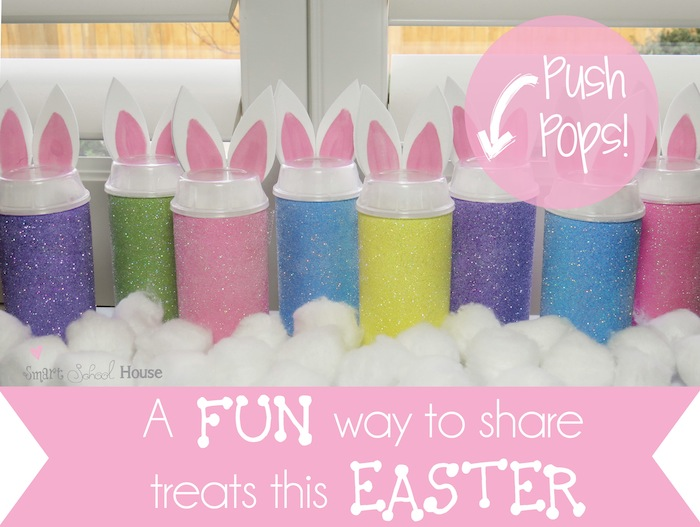 Bunny Push Pops #Easter