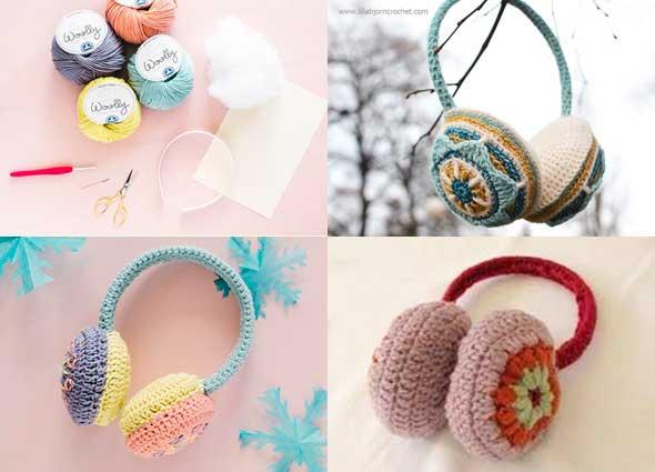 Como hacer protectores de oidos a crochet