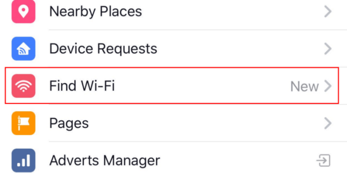 How to Locate Facebook Find Wifi