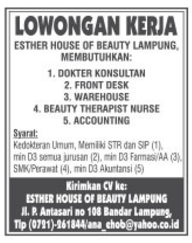 ESTHER HOUSE OF BEAUTY LAMPUNG