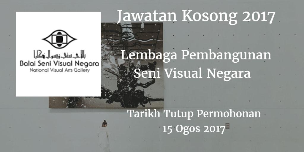 Jawatan Kosong Lembaga Pembangunan Seni Visual Negara 15 Ogos 2017