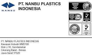 Lowongan Kerja PT. Nanbu Plastics Indonesia MM2100 Cikarang