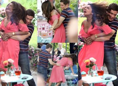 Watch Video : Priyanka Chopra Wardrobe Malfunction With Adam Devine While Shooting