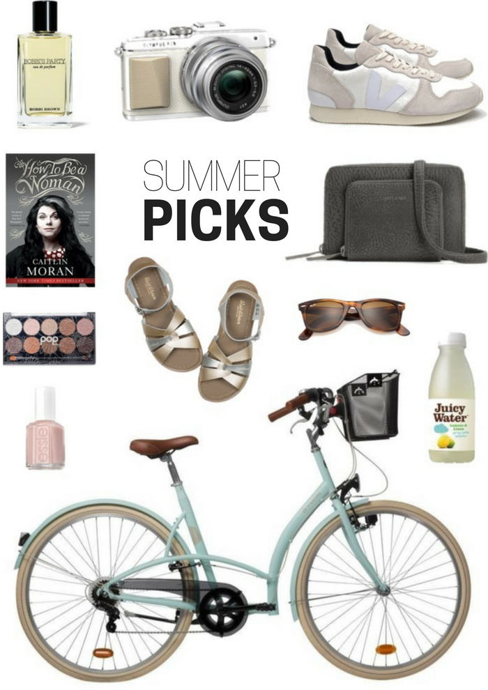 wishlist summer picks veja olympus pen matt and nat essie fiji elops 320 decathlon mint caitlin moran book how to be a woman saltwater sandals pop beauty nude palette bobbi brown party perfume rayon new wayfarer sunglasses lemon juicy water