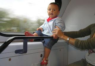 Izan en un viaje en tren por Bélgica y Holanda.