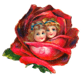 flower rose girls twins illustration clipart download