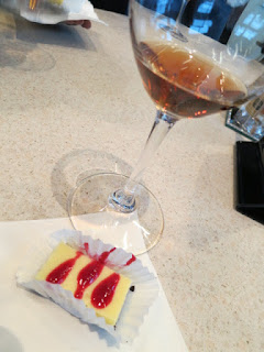 2012 Niagara College Teaching Winery Dean's List Savant Icewine with White Chocolate Raspberry Cheesecake on a Dark Chocolate Crust
