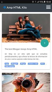 Template AMP blogger gratis