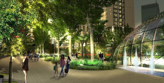 Khuôn viên xanh tại Eco Green City