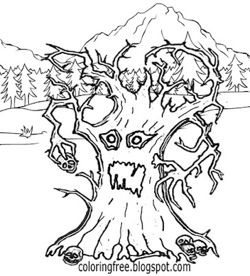 Dancing tree woodland monster wonderful land of magical and mystical creatures drawings for kids art