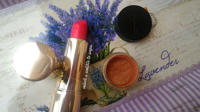 Joli Rouge 32 Clarins & pigmento Pearly Powder 2 YSL