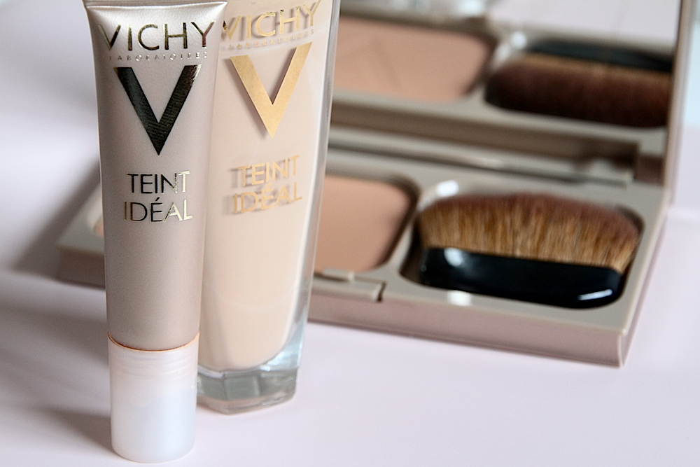 vichy teint ideal fond de teint anti-cernes roll on poudre bronzante avis test