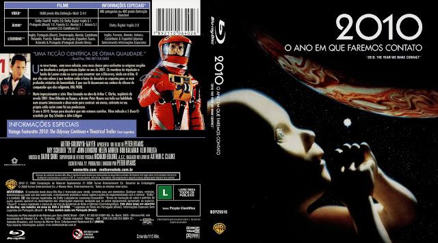 Capa Blu-ray 2010 O Ano em Que Faremos Contato
