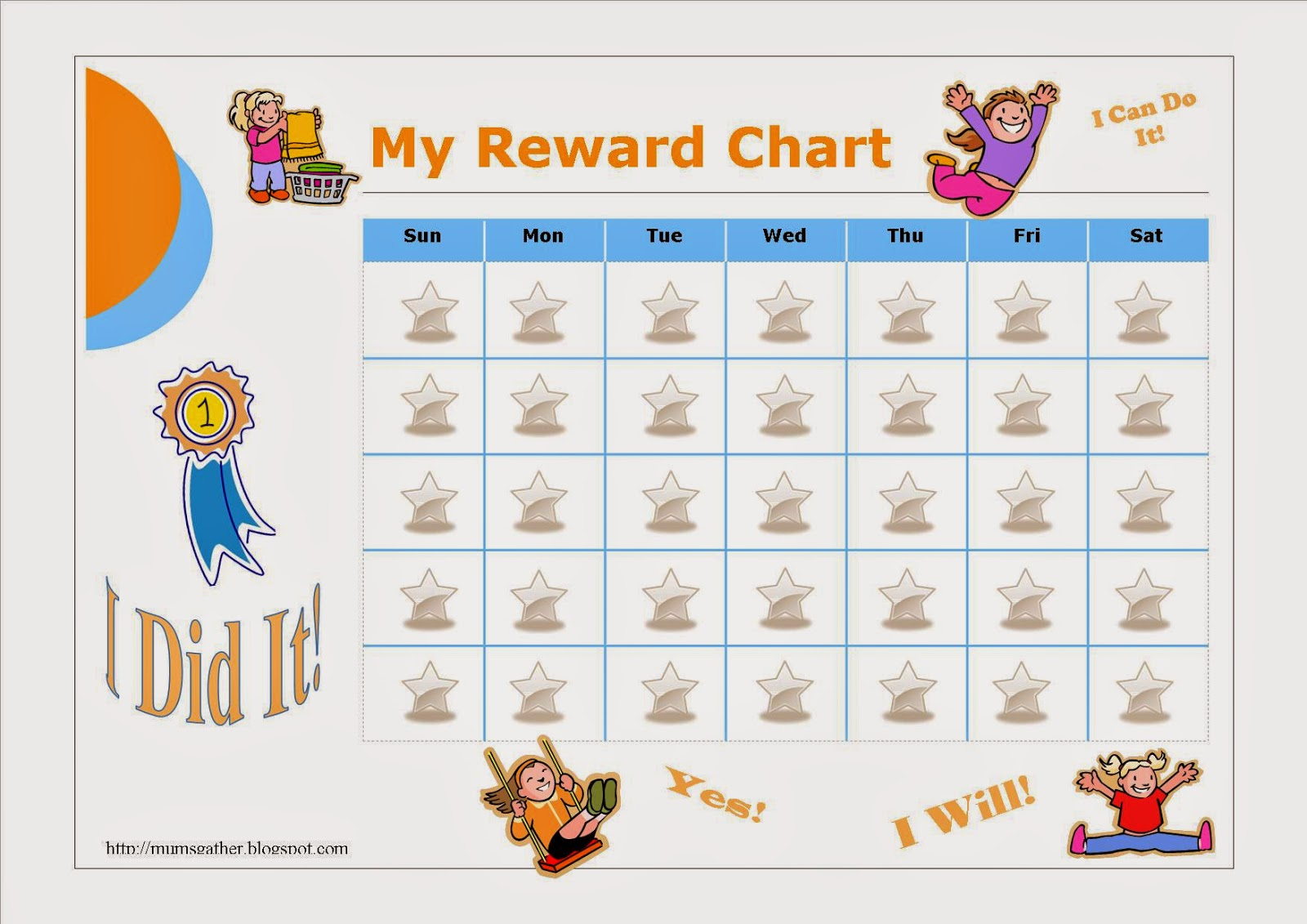 graphic relating to Free Printable Reward Chart titled Cost-free Printable Benefit Chart For Children ~ Parenting Instances