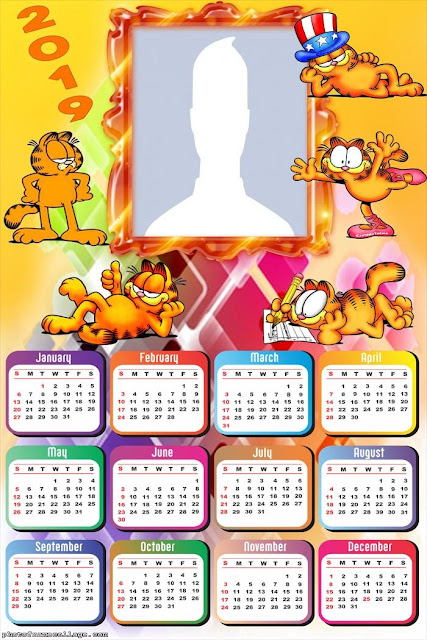 Garfield 2019 Free Printable Calendar.