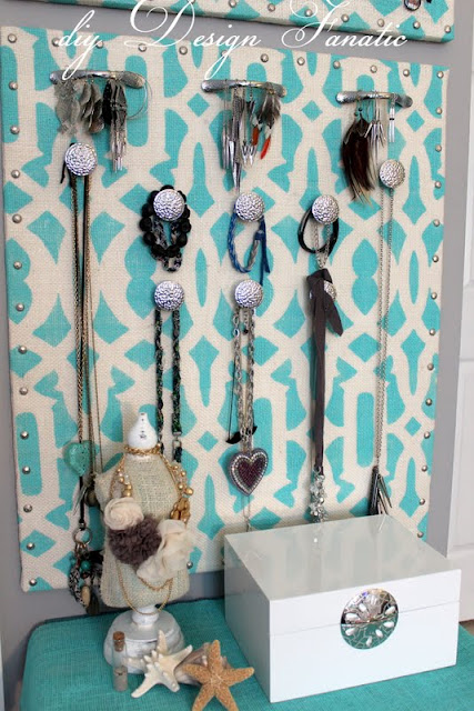 jewelry organizer, diy jewelry organizer, diy design fanatic, diy, stencil