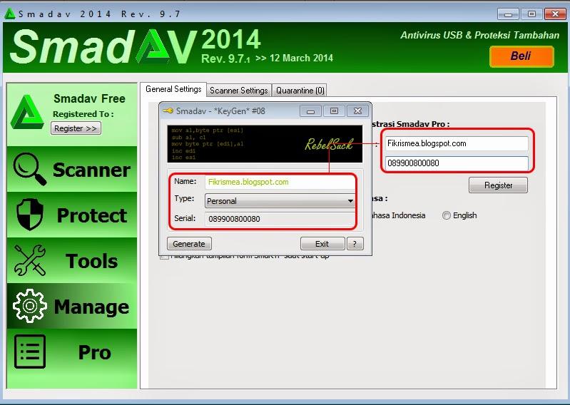 cara membuat serial number key smadav pro dengan nama sendiri