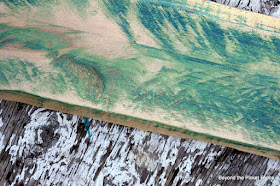 sand off paint to expose reclaimed wood