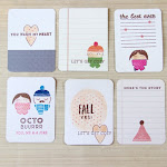 Hand stamped Project Life Cards